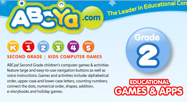 Abcya second grade games